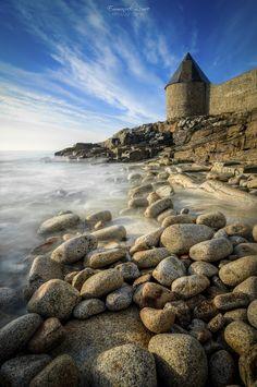 Le Donjon de Lomener, Morbihan, Bretagne.