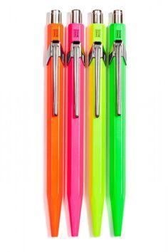 Miss School Supplies (Caran d'Ache Neon Ballpoint Pens)