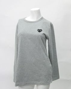9a9e626a27 Comme Des Garcons Play Authentic Long Sleeved Grey Polo Tee Size M | eBay  Polo Tees