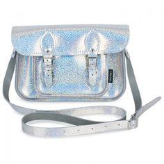 Zatchels Girls 11.5'' Silver Solar Sparkle Satchel | AlexandAlexa