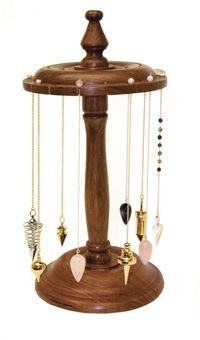 Wooden Pendulum Stand  A wonderful idea to display and store the beautiful pendulums.