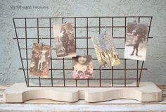 Super cute DIY Card holder, jewelry holder, picture holder, craft fair booth or store display idea
