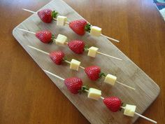 Fruit and Cheese Kebabs for appetizers by  Donna Pilato:   There are so many details to think about when planning a party, wouldn't it be nice to have a small repertoire of easy appetizers to set out when guests arrive for a dinner or cocktail party? You want food that looks inviting, and that can be assembled in minutes or prepared in advance. Pick any or all from this collection and make them your own with substitutions or by becoming creative with your serving pieces.  Take, for example…