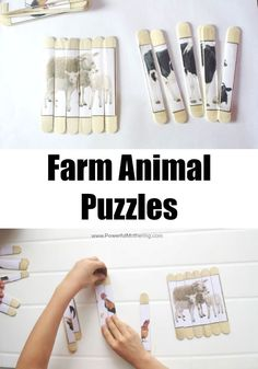Make this cool farm animal puzzle to encourage puzzle building skills!
