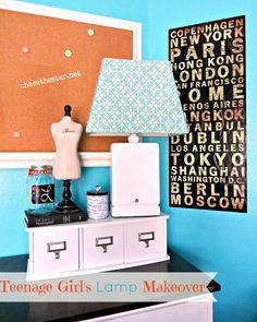 Girl's Room Lamp Makeover