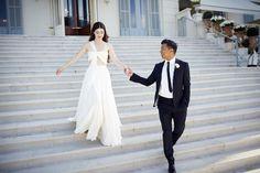 Nell Diamond and Teddy Wasserman's Fairlytale Wedding at the Hôtel du Cap-Eden-Roc  wedding dress