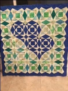 Quilt by Karen Noble.  From a workshop taught by Wendy Mathson, Empty Spools Seminars at Asilomar 2017.