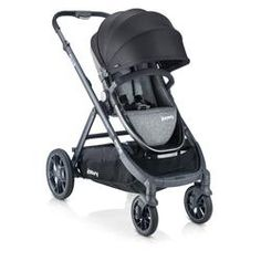 Joovy - poussette qool - gris melange Double Strollers, Baby Strollers, Large Storage Baskets, Toy R, Baby List, Travel System, Rubber Tires, Baby Car Seats, Children