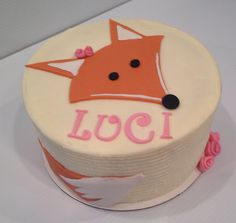 Lil fox cake for a First Birthday #treebranchcakery