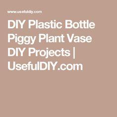 DIY Plastic Bottle Piggy Plant Vase DIY Projects | UsefulDIY.com