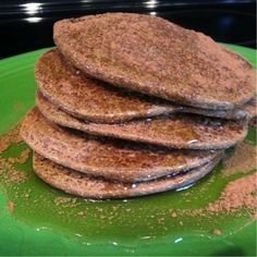 Not only are these pancakes delicious, they are also free of gluten, wheat, soy, dairy and eggs; some of the most common allergens. Recipe: 1/2c buckwheat flour, 2tbsp coconut flour, 1/4c unsweetened applesauce, 1/4c canned pumpkin, stevia drops or preferred sweetener (for a sweeter batter if desired) & a sprinkle of cinnamon to top them off. Mix all ingredients except cinnamon and add water until desired batter thickness. Cook thoroughly and top with real maple syrup and cinnamon. Enjoy!