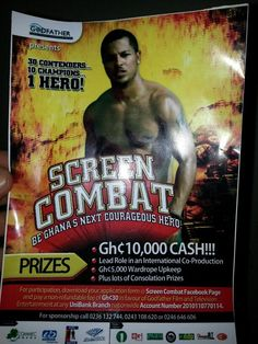 Popular Ghanaian actor, Van Vicker (@IamVanVicker), will be hosting Ghana's very first Screen Combat, a contest to become Ghana's Next Courageous Hero.  According to Van Vicker, Screen Combat begins in September. Contestants will be put in a jungle in Ghana for 2 months and the fittest will survive to be the screen combat hero and would win VANtastic prizes. Read more: http://www.nigeriamovienetwork.com/articles/read-van-vicker-to-host-screen-combat-ghanas-next-courageous-hero_668.html