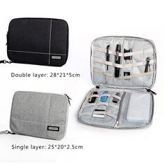 Single/Double Layer Electronic Organizer Case