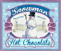 Chocolate Rabbit Graphics by chocolaterabbit on Etsy Christmas Labels, Christmas Printables, Snowman Printables, Christmas Ideas, Christmas Fonts, Christmas Paper, Free Printables, Christmas Crafts, Christmas Ornaments
