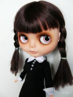 Wednesday Addams blythe doll