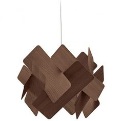 The Escape Large Pendant Lamp by LZF is an elegant pendant with a nifty structure that features interlocking strips of wood veneer arranged in a way that is reminiscent of falling dominoes. Veneer Panels, Light Effect, Ivory White, Wood Veneer, Pendant Lamp, Modern Interior, Natural Wood, Red And Blue, Lamps