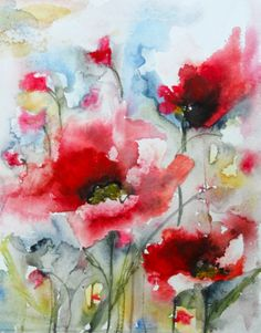Karin Johannesson Contemporary Watercolour: New Poppies!