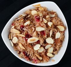 This cranberry rice pilaf recipe, utilizing fresh cranberries, is so flavorful and perfect as a side dish for a fall-themed meal. Photograph included.