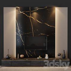 Modern Tv Room, Modern Tv Wall Units, Living Room Modern, Living Rooms, Feature Wall Design, Tv Wall Design, Tv Feature Wall, Office Wall Design, Living Room Wall Units