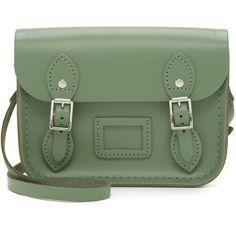Cambridge Satchel Tiny Satchel (1 050 SEK) ❤ liked on Polyvore featuring bags, handbags, ivy green, genuine leather handbags, leather handbags, satchel purses, leather satchel purse and leather purses
