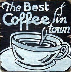 Rustic Sign Handmade Retro Coffee Decor by JMEllisDesigns on Etsy
