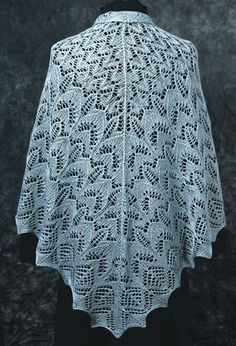 Lace Knitting Patterns | ... Sample knit with 50% mulberry silk / 50% merino wool laceweight
