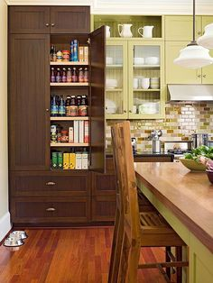 Built-in, butler's, walk-in, freestanding, or a combination -- storage is never in short supply when a well-designed kitchen pantry is just steps away.