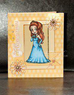 Visible Image stamps - Elegant Emma - Prom Queen Character stamp - Samantha Kingdon