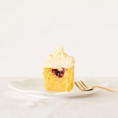 The Kiwi Cook | Vanilla Cupcakes with Jam and White Chocolate Buttercream | http://thekiwicook.com