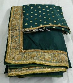 346ce75f54376a Emerald Green Saree Blouse Indian ethnic designer uppada silk exclusive  made to order new sari for w
