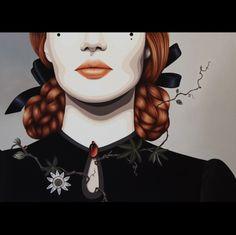 """Passiflora Regina"" - Painting,  100x100 cm ©2013 by Duma .. -  Painting, Oil"