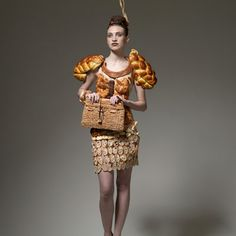 A dress made out of bread!