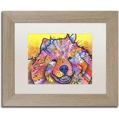Trademark Fine Art Benzi Canvas Art by Dean Russo, White Matte, Birch Frame, Size: 16 x 20, Brown