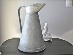 Exceptional French Vintage Zinc Pitcher by myfrenchycottage, $140.00