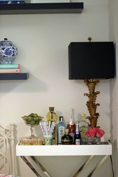 West Elm Tray as a barcart