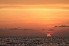 Sunset 20 miles off Marathon Key