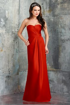 Bari Jay Bridesmaids | STYLE: 548 | Jolie Satin. Strapless, sweetheart bust, with natural waistband with draped overlay. #Bridesmaids #BridesmaidsDress #WeddingPlanning #FallWedding