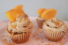 Raw Carrot-Orange Cupcakes
