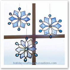 LIGHT CATCHER: Light catcher ornaments made from string & glue