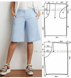 Sewing Pants Sewing Clothes Diy Clothes Clothes For Women Sewing Patterns Free Clothing Patterns Dress Patterns Women's Clothing Sewing Tools Sewing Shorts, Sewing Clothes, Diy Clothes, Skirt Sewing, Dress Sewing Patterns, Sewing Patterns Free, Clothing Patterns, Pattern Sewing, Free Sewing