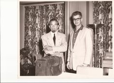 35 year old Dr. Lee Krusing posing with Dr. B.J. Palmer May 26th 1955