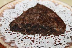 Crustless Brownie Pie www.simplefascinations.blogspot.com