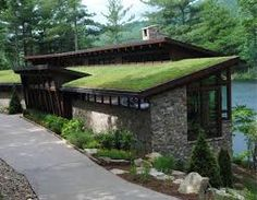 sloped green roof