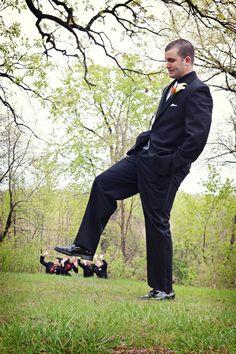 Too funny! Photo by Danielle #Minnesota #weddings #Minneapolisweddingphotography