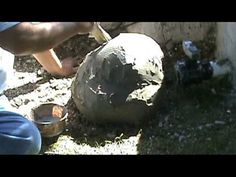 How to make fake rocks with concrete. Good for covering eyesores. Watch the video at the bottom of the page.