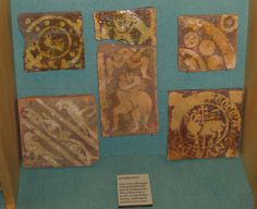 Danbury medieval tiles in the Chelmsford & Essex Museum