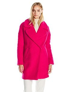 New Trending Outerwear: Betsey Johnson Womens Cocoon Wool Coat, Pink Tourmaline, S. Betsey Johnson Women's Cocoon Wool Coat, Pink Tourmaline, S   Special Offer: $37.99      377 Reviews Oversized boyfriend jacket, boiled wool, 3/4 lengthBoyfriend fit3/4 length