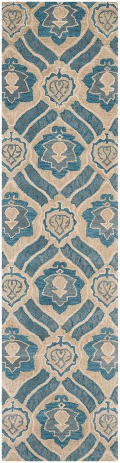 WYD616A Rug from Wyndham collection.  Safavieh's artistry is vividly displayed in the Wyndham collection with designs ranging from contemporary florals to traditional global motifs.  Each richly-hued rug is hand-tufted by master weavers in India of top quality wool. Several designs recreate the one-of-a-kind look of fashionable over-dyed antique rugs using a special multi-colored yarn that is meticulously colored using ages-old pot dyeing techniques. After the dye is carefully applied to…