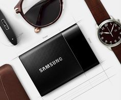 Samsung T1 Portable Drive is only slightly larger than the average thumb drive yet offers up to a hefty 1TB of storage space. It also supports data encryption and works with both Mac and Windows.