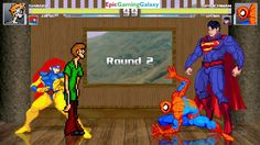 Spider-Man And Homer Simpson VS Jean Grey And Shaggy In A MUGEN Match / Battle / Fight This video showcases Gameplay of Shaggy From The Scooby-Doo Series And Jean Grey The Member Of The X-Men VS Superman The Superhero And Spider-Man The Superhero In A MUGEN Match / Battle / Fight